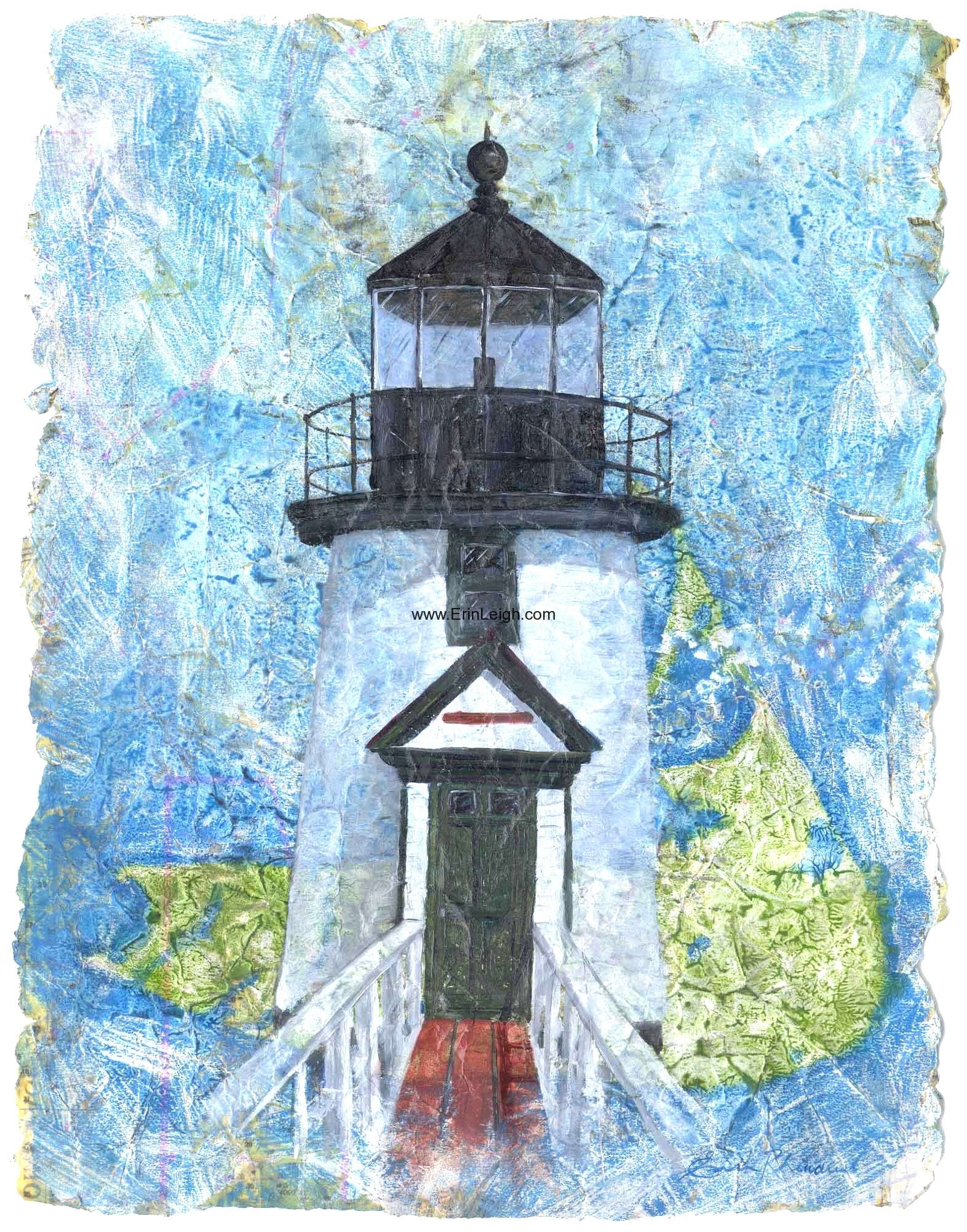 Nantucket Brant Point Lighthouse by Erin Leigh
