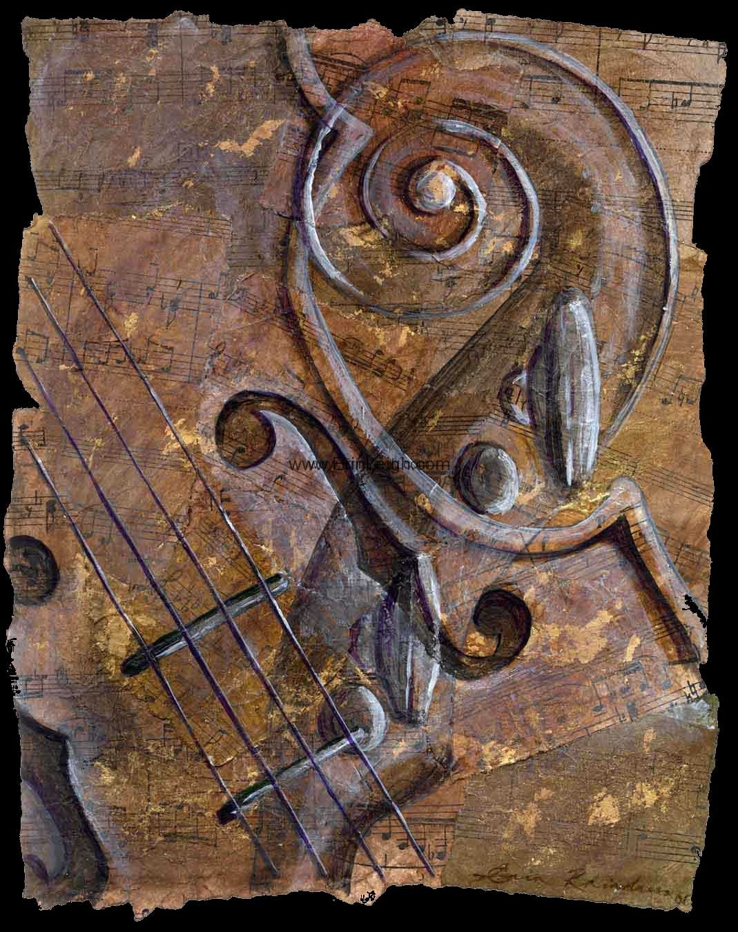 Violin Collage 2 by Erin Leigh