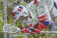 Lacrosse Collage by Erin Leigh
