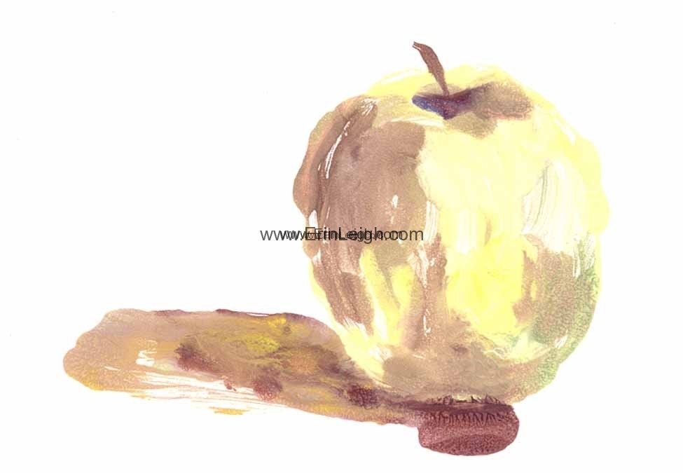 Yellow Apple by Erin Leigh