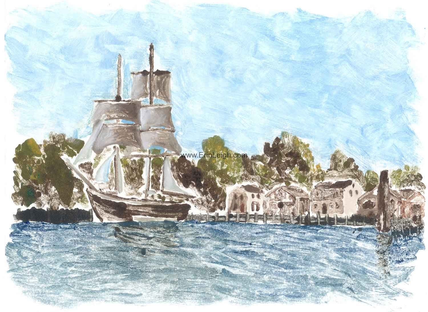 Mystic Seaport by Erin Leigh