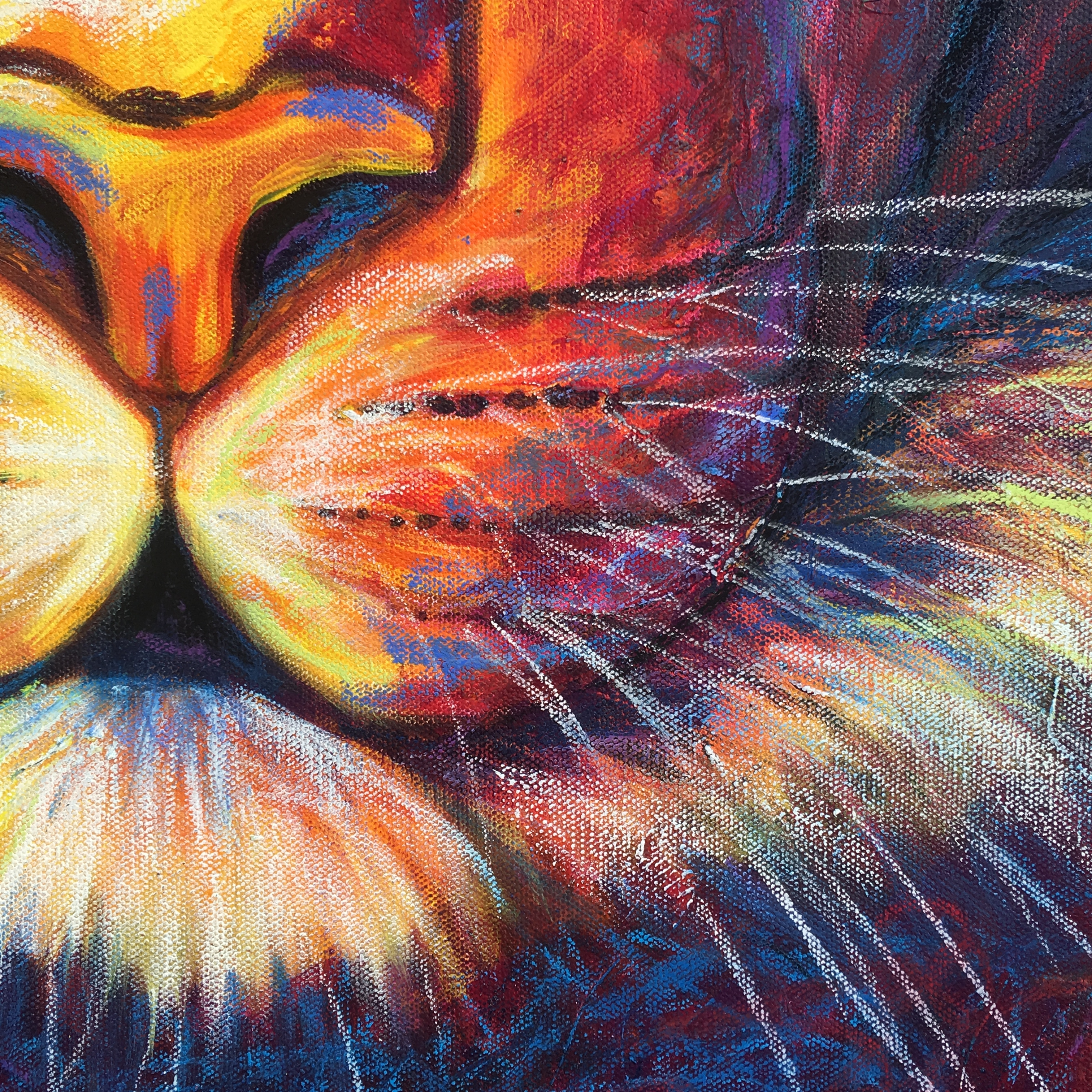 Detail #1 of Red Tiger by Erin Leigh